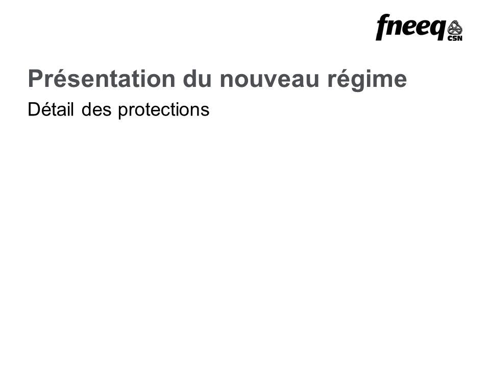 Présentation du nouveau régime Détail des protections