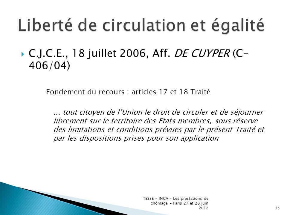 C.J.C.E., 18 juillet 2006, Aff.