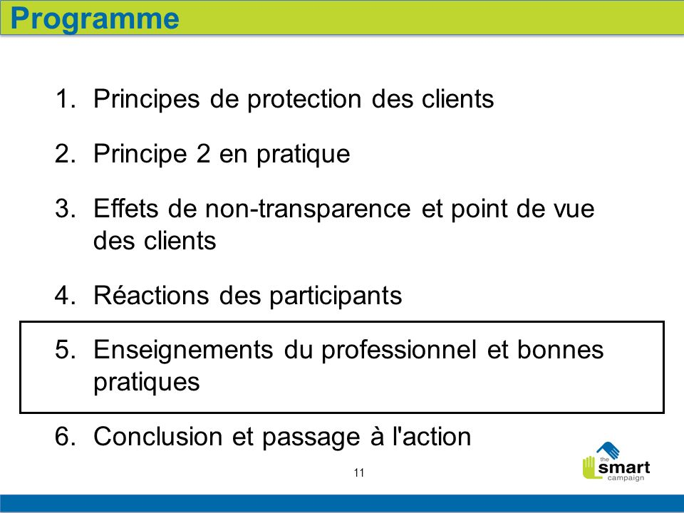 11 1. Principes de protection des clients 2. Principe 2 en pratique 3.
