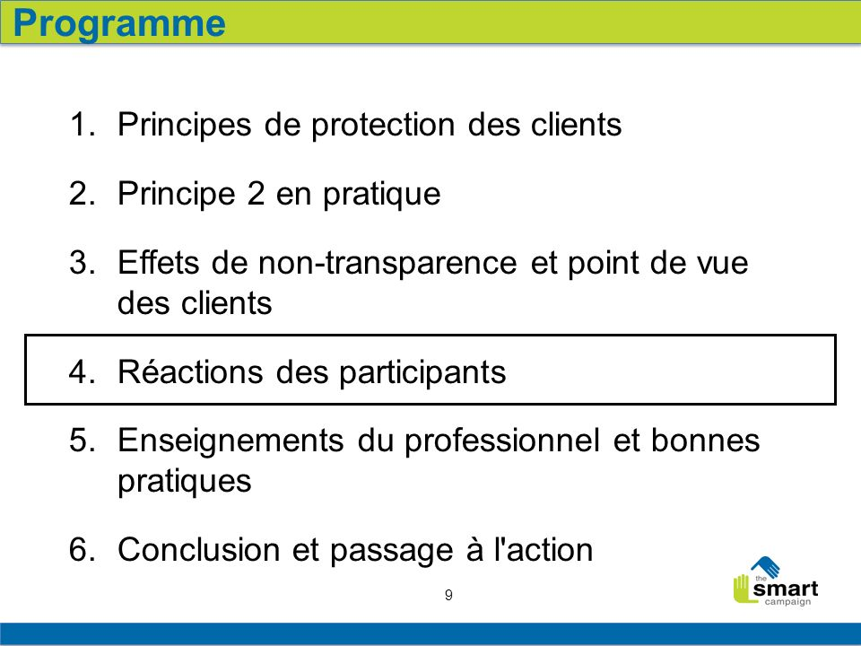 9 1. Principes de protection des clients 2. Principe 2 en pratique 3.