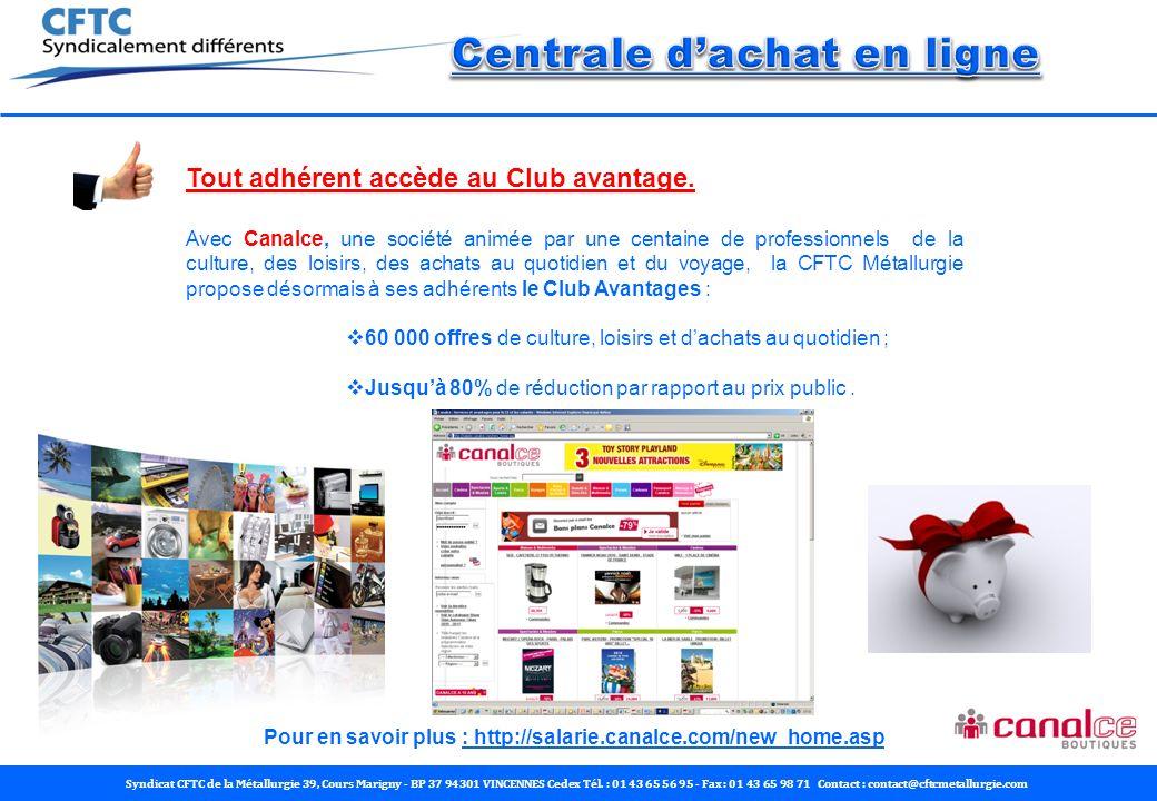 Syndicat CFTC de la Métallurgie 39, Cours Marigny - BP 37 94301 VINCENNES Cedex Tél.