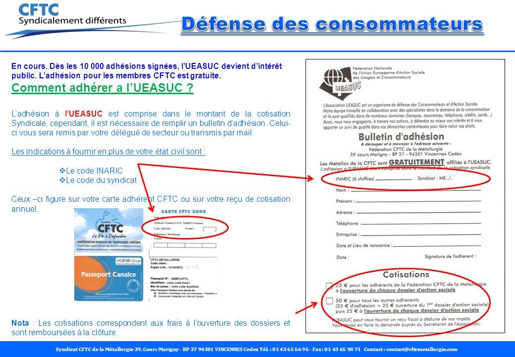 Syndicat CFTC de la Métallurgie 39, Cours Marigny - BP 37 94301 VINCENNES Cedex Tél. : 01 43 65 56 95 - Fax : 01 43 65 98 71 Contact : contact@cftcmet