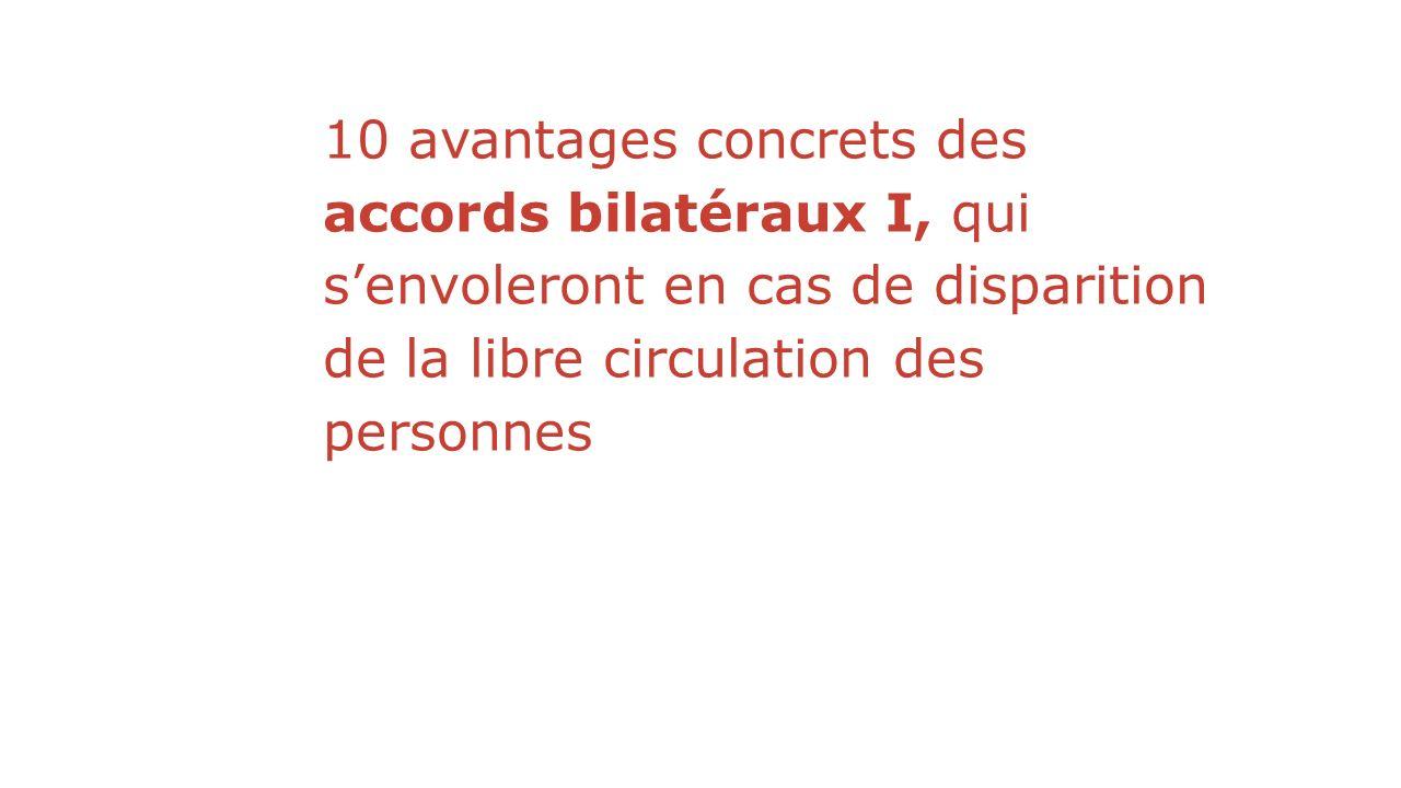 10 avantages concrets des accords bilatéraux I, qui senvoleront en cas de disparition de la libre circulation des personnes
