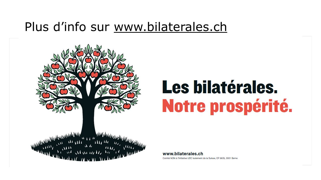 Plus dinfo sur www.bilaterales.ch