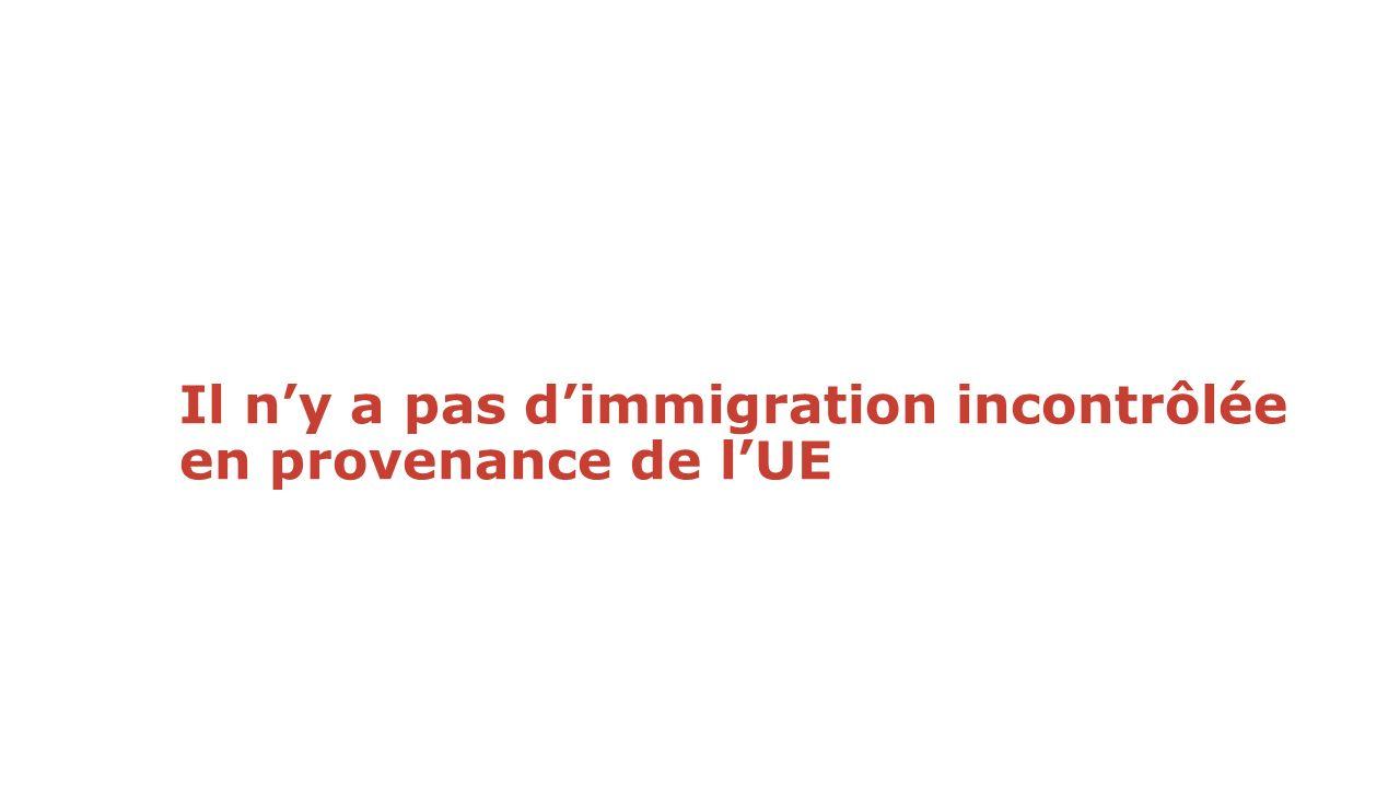 Il ny a pas dimmigration incontrôlée en provenance de lUE