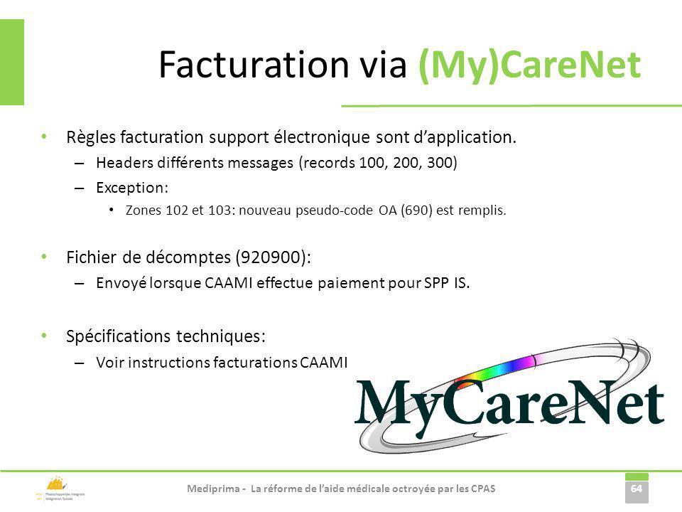 Règles facturation support électronique sont dapplication. – Headers différents messages (records 100, 200, 300) – Exception: Zones 102 et 103: nouvea
