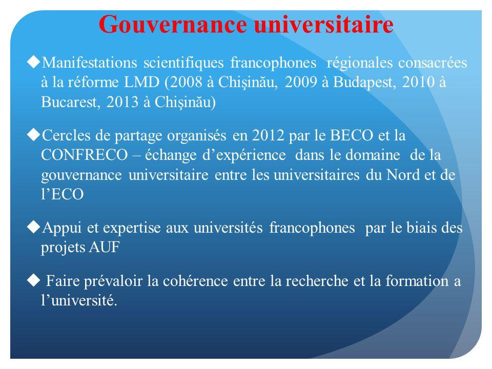 « Lapplication du Processus de Bologne et la mise en œuvre du LMD en Europe centrale et orientale.