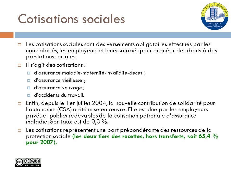 Cotisations sociales Les cotisations sociales sont des versements obligatoires effectués par les non-salariés, les employeurs et leurs salariés pour a