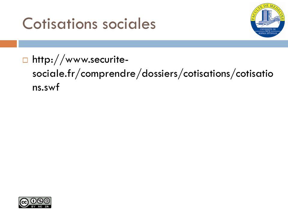 Cotisations sociales http://www.securite- sociale.fr/comprendre/dossiers/cotisations/cotisatio ns.swf