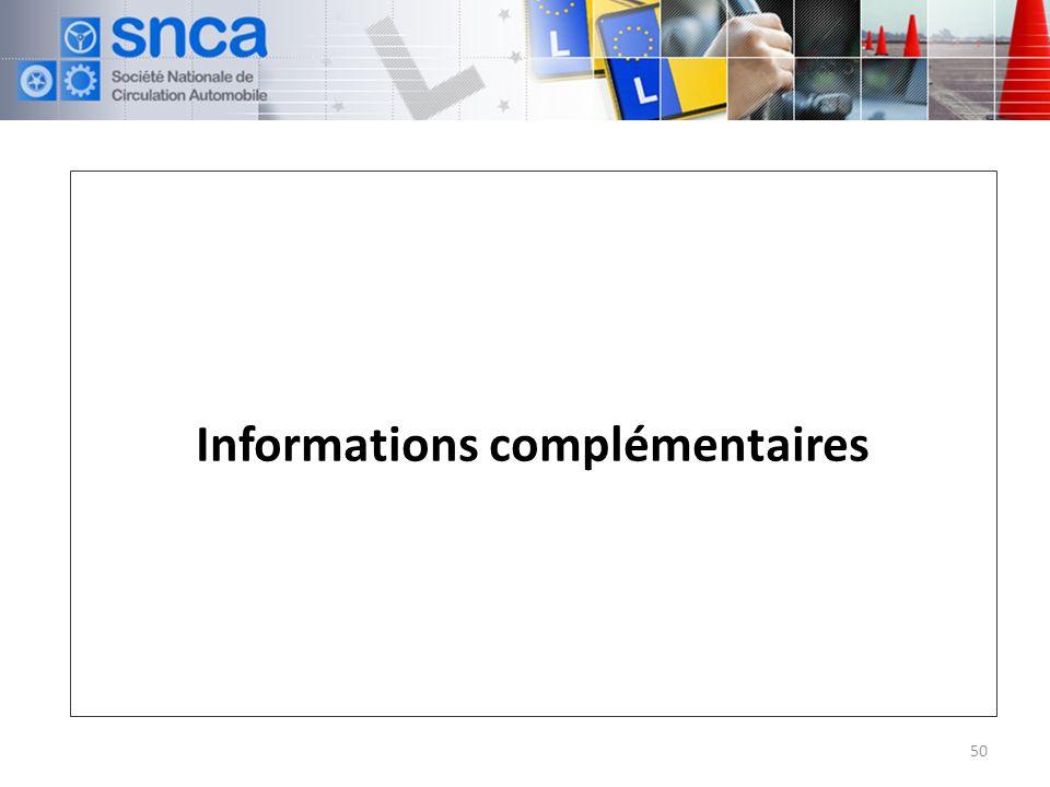Informations complémentaires 50