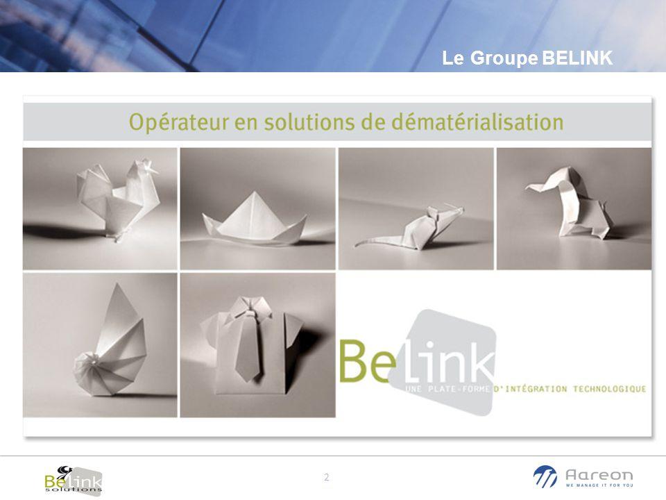 © Aareon France 3 Présentation Groupe Belink Le groupe Belink propose une offre complète de dématérialisation des documents et d automatisation des processus métier.