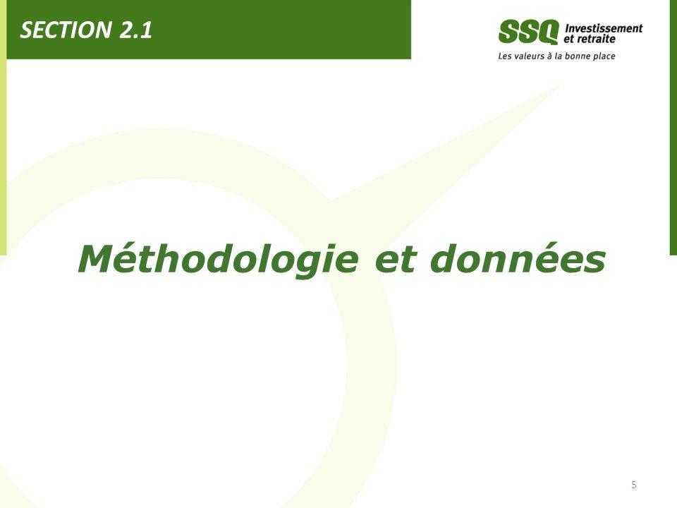 Méthodologie et données SECTION 2.1 5