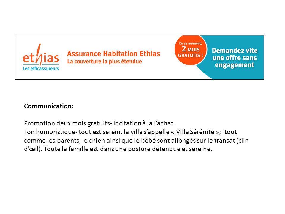 Communication: Promotion deux mois gratuits- incitation à la lachat.