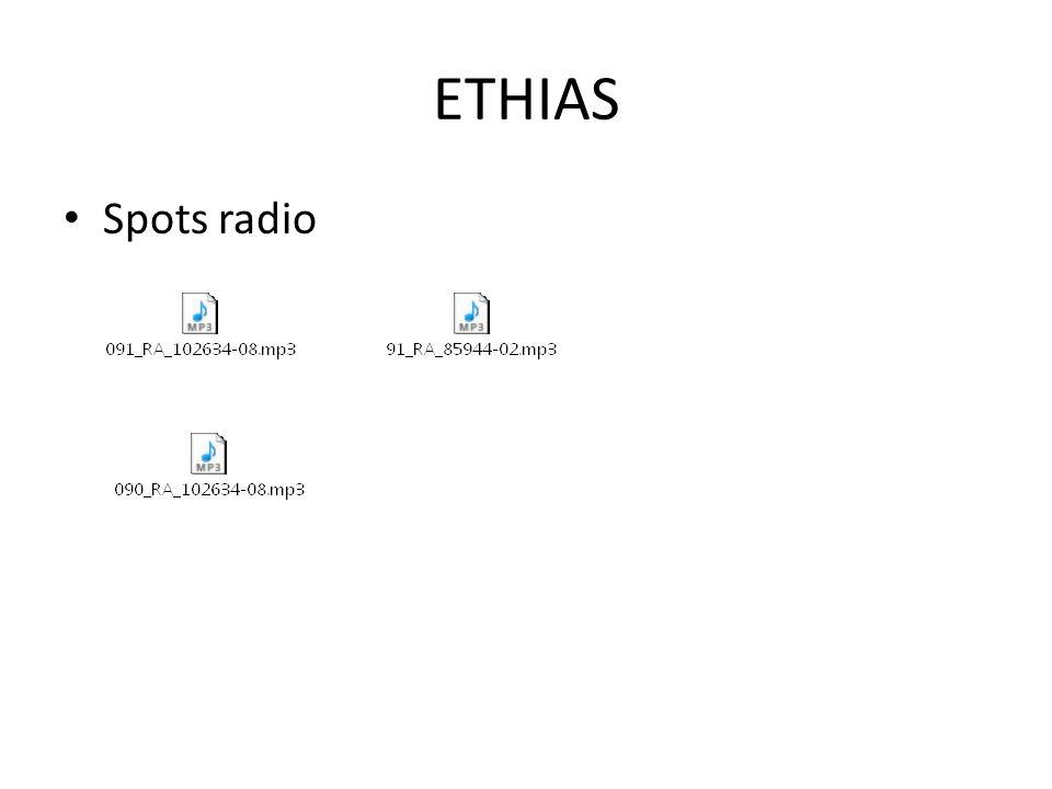 ETHIAS Spots radio