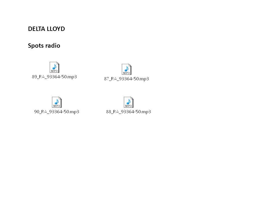 DELTA LLOYD Spots radio