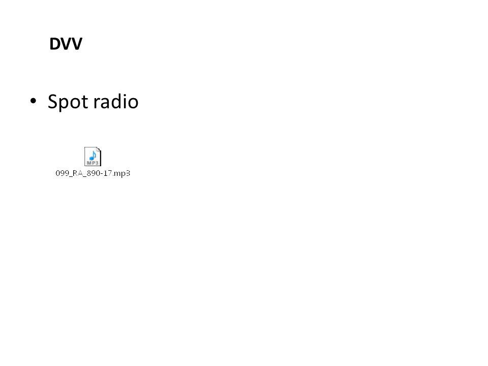 Spot radio DVV