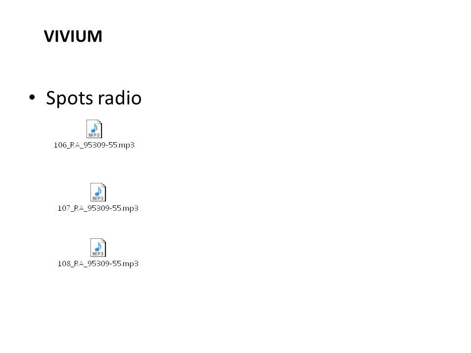 Spots radio VIVIUM