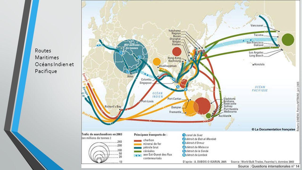 Routes Maritimes Océans Indien et Pacifique