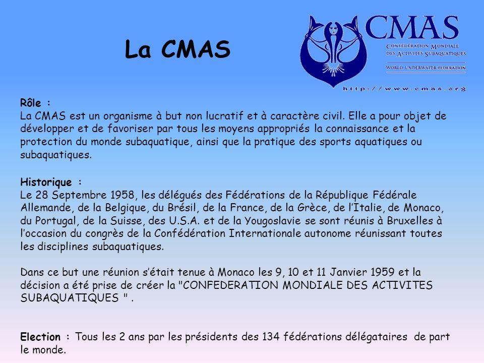 La CMAS Rôle : La CMAS est un organisme à but non lucratif et à caractère civil. Elle a pour objet de développer et de favoriser par tous les moyens a