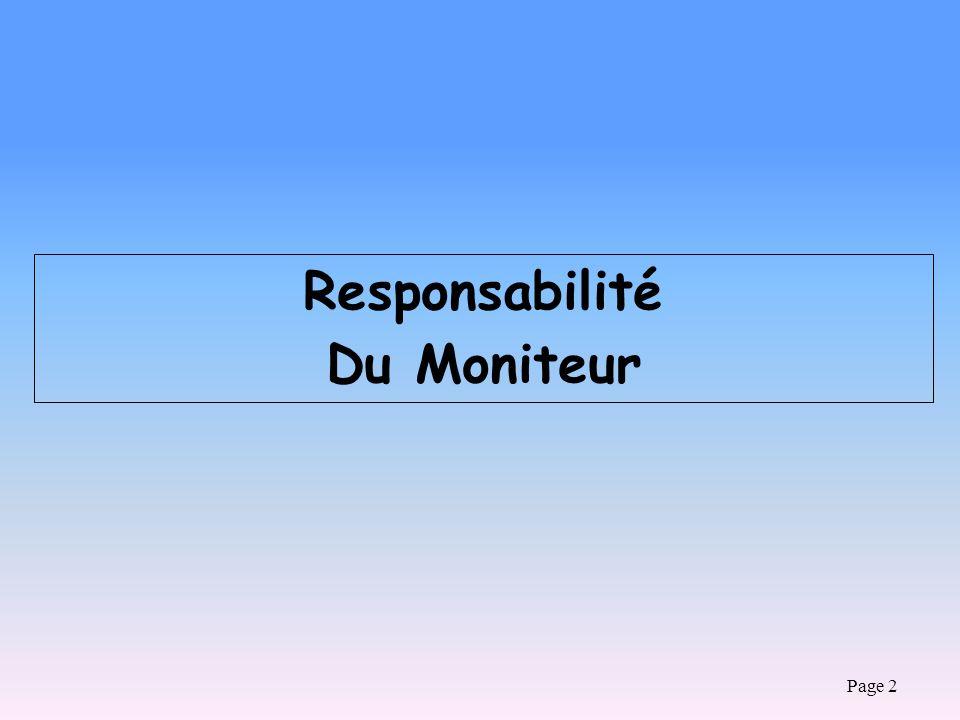 Page 2 Responsabilité Du Moniteur