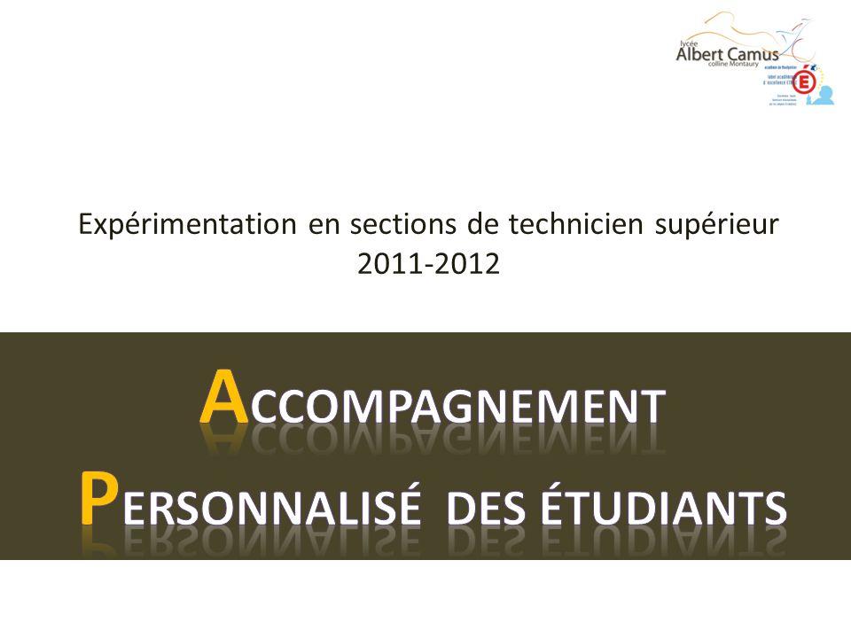 Expérimentation en sections de technicien supérieur 2011-2012