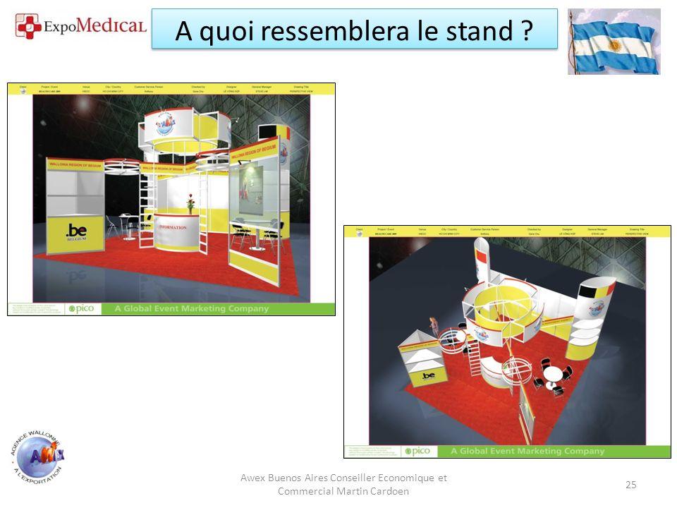 Awex Buenos Aires / Conseiller Economique et Commercial Martin Cardoen 26 A quoi ressemblera le stand ?