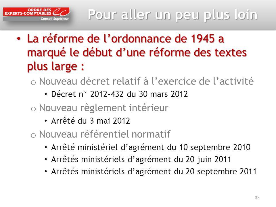 La réforme de lordonnance de 1945 a marqué le début dune réforme des textes plus large : La réforme de lordonnance de 1945 a marqué le début dune réfo