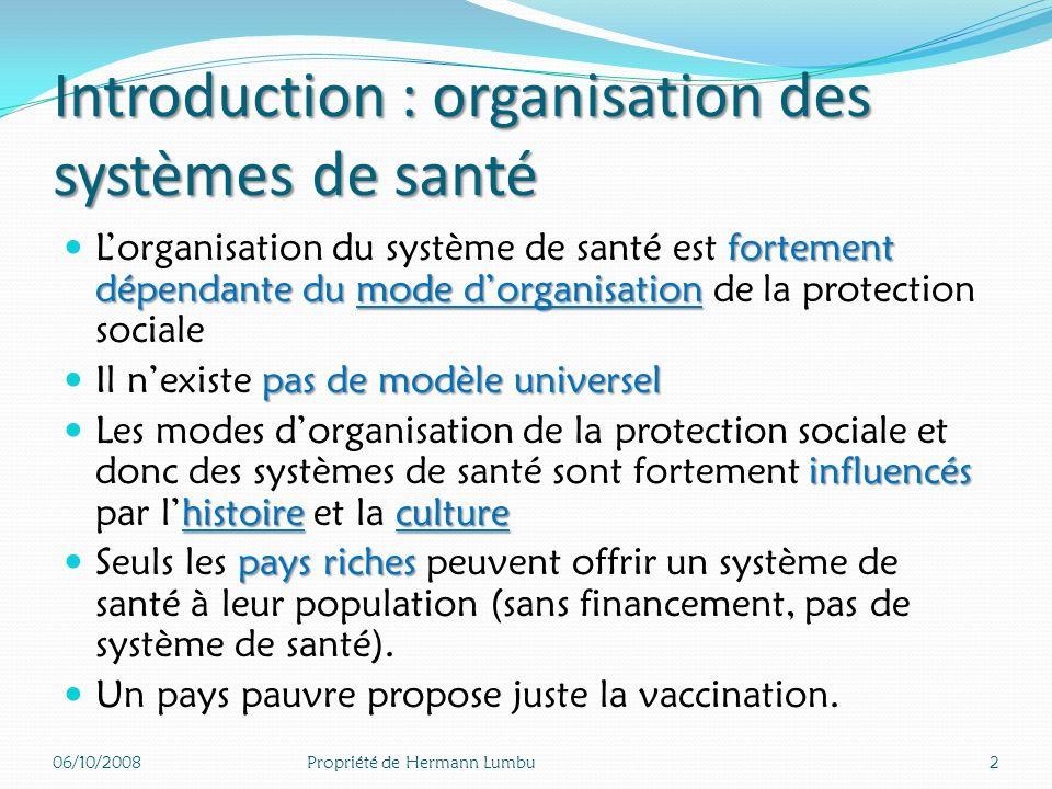 Mortalité infantile 2005 (Décès /1000 naissances vivantes) 06/10/200812Propriété de Hermann Lumbu