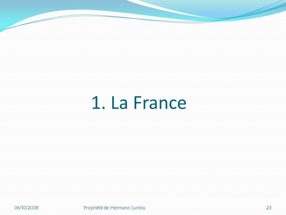 II. Exemple de système de santé 06/10/200822Propriété de Hermann Lumbu