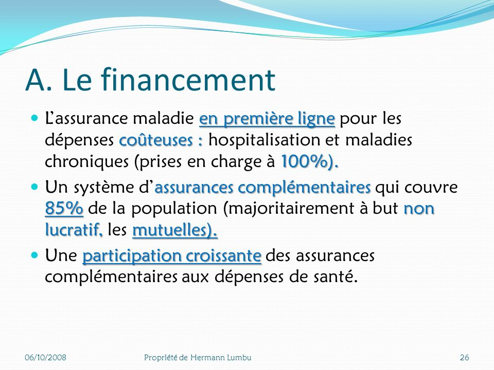 Déficits annuels de la sécurité sociale 06/10/200825Propriété de Hermann Lumbu