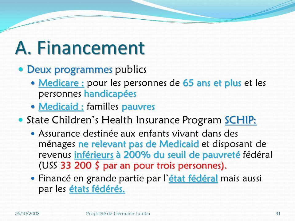 A. Financement Pas de couverture généralisée Pas de couverture généralisée de la population Pas de financement public Pas de financement public généra