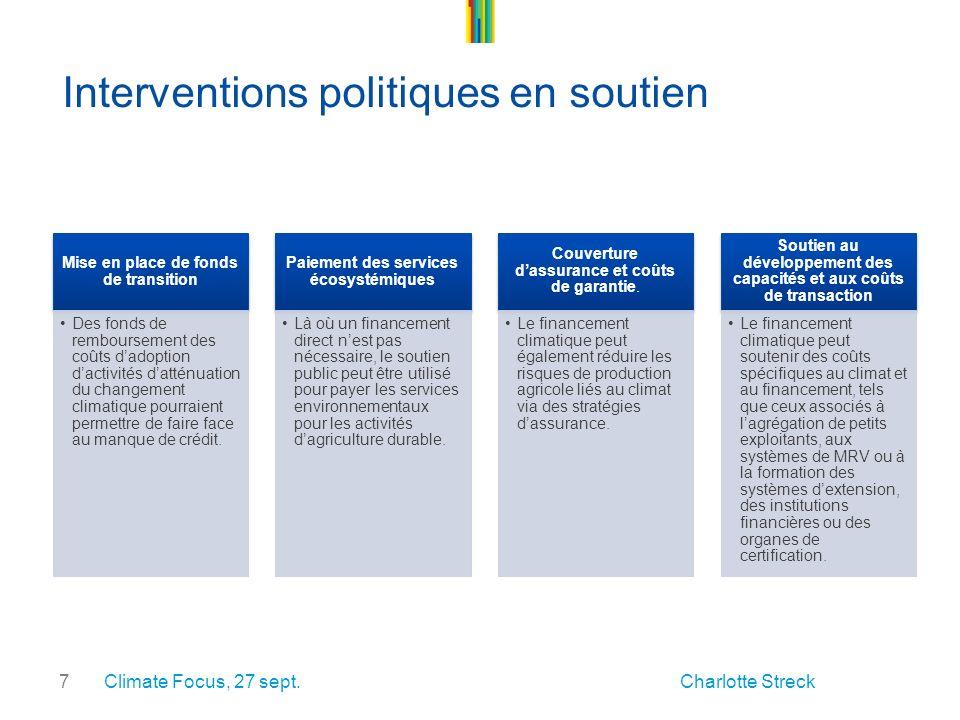 7 Interventions politiques en soutien Climate Focus, 27 sept.