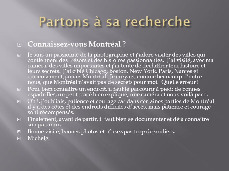 Connaissez-vous Montréal .