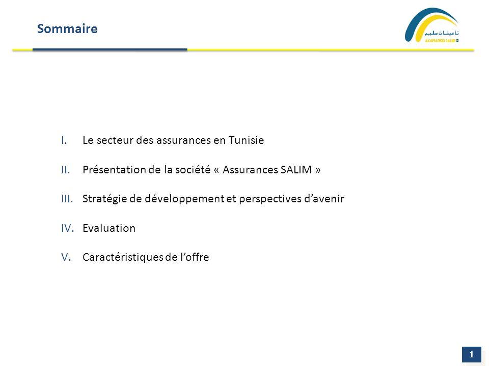 Sommaire I.Le secteur des assurances en Tunisie II.Présentation de la société « Assurances SALIM » III.Stratégie de développement et perspectives dave