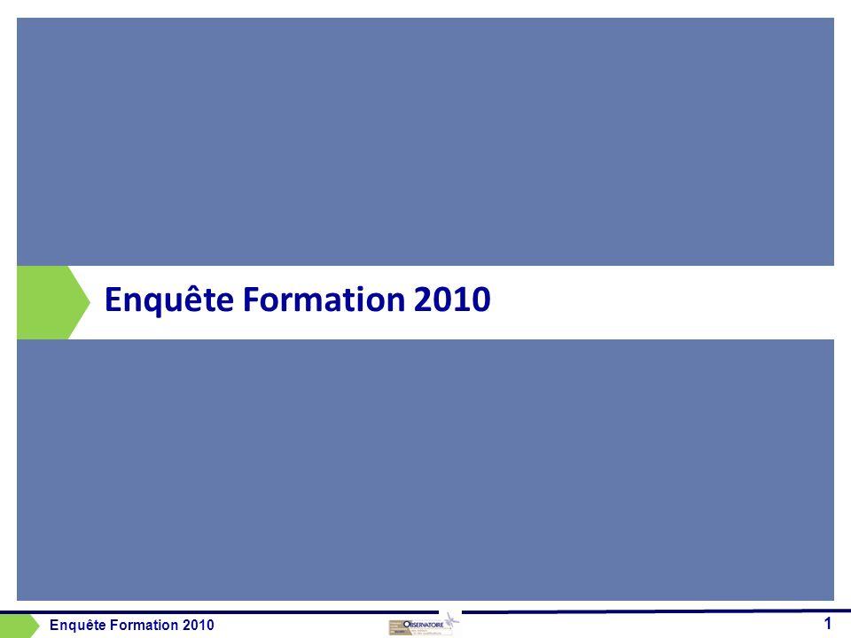 Enquête Formation 2010 1