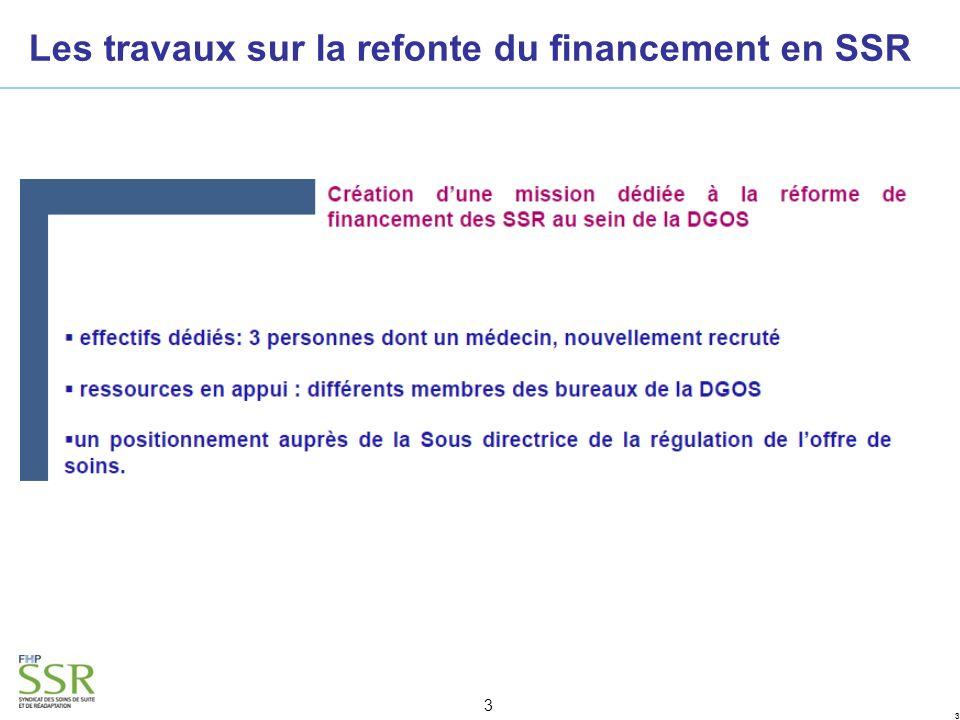 33 3 Les travaux sur la refonte du financement en SSR