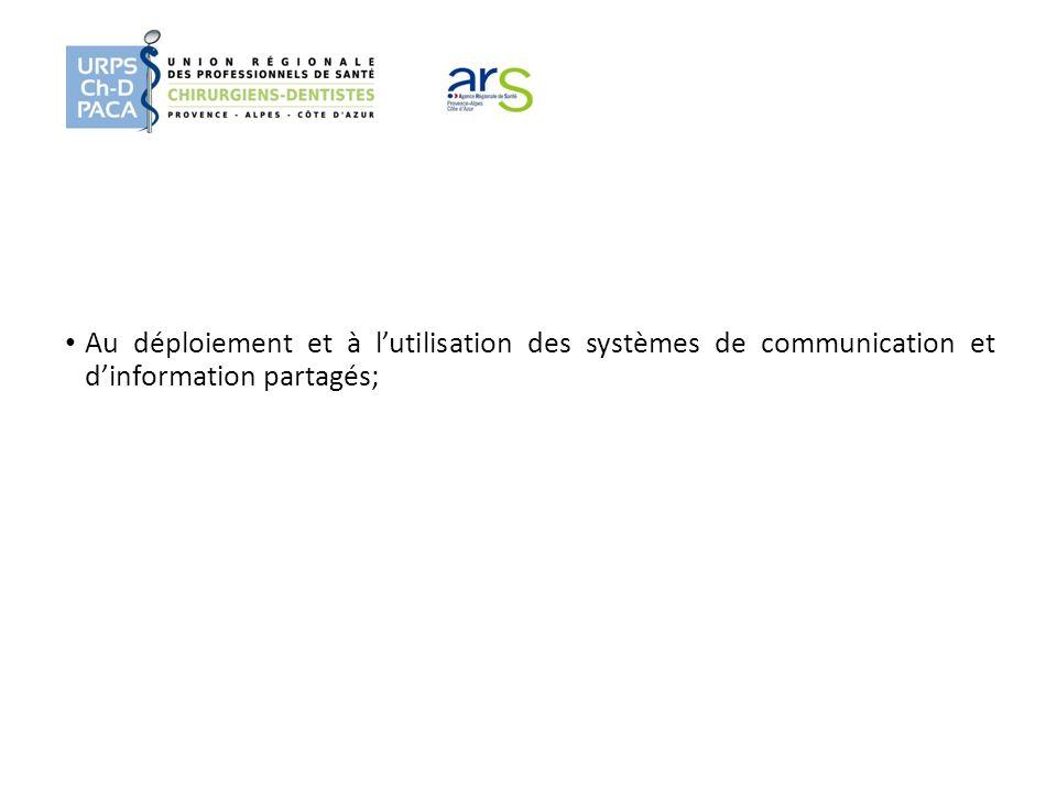 Au déploiement et à lutilisation des systèmes de communication et dinformation partagés;