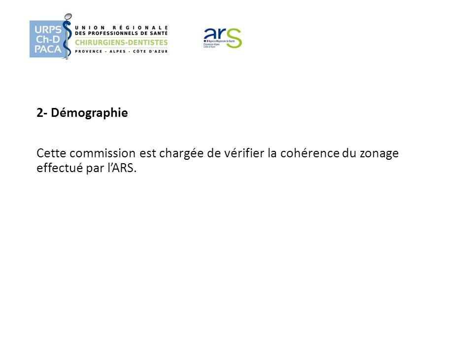 2- Démographie Cette commission est chargée de vérifier la cohérence du zonage effectué par lARS.