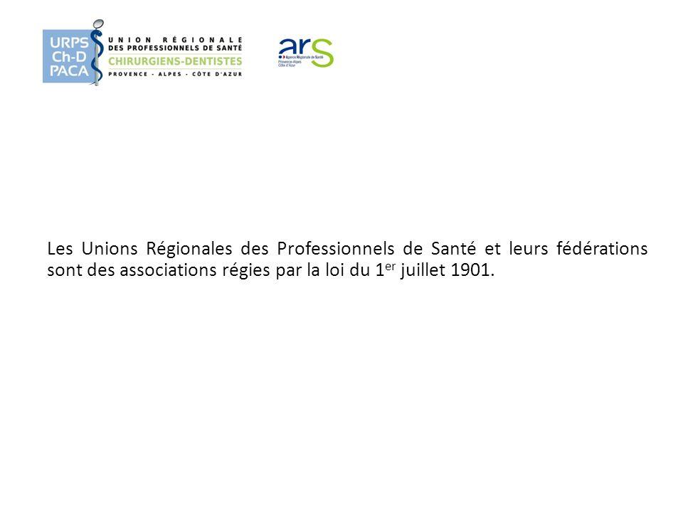 Les Unions Régionales des Professionnels de Santé et leurs fédérations sont des associations régies par la loi du 1 er juillet 1901.