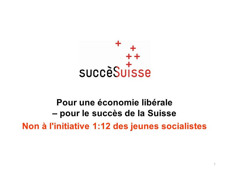 Pour une économie libérale – pour le succès de la Suisse Non à l'initiative 1:12 des jeunes socialistes 1