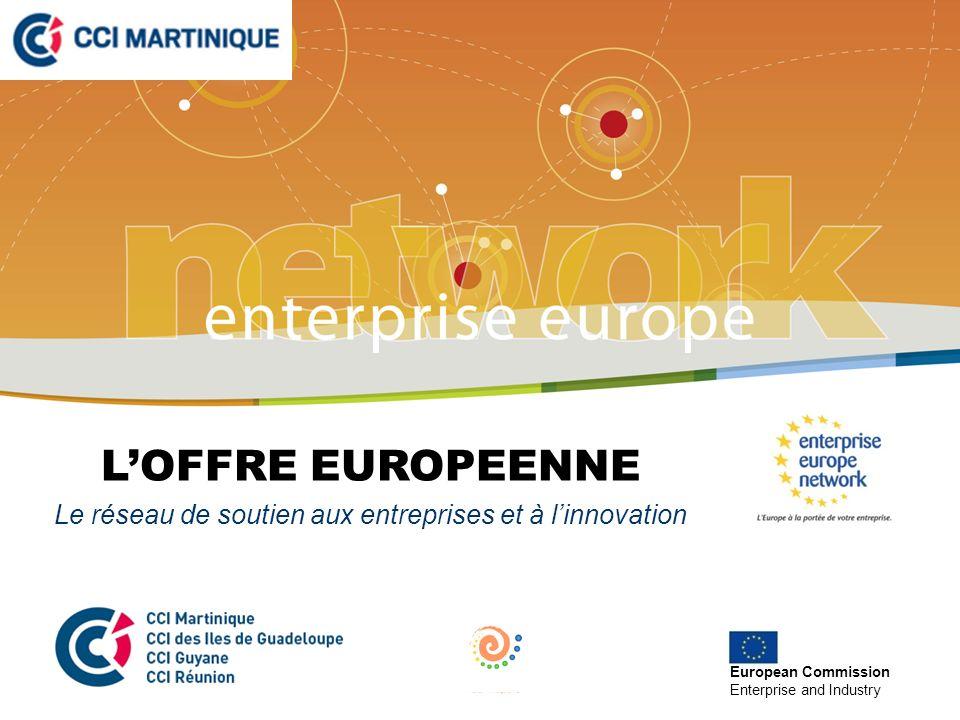 LOFFRE EUROPEENNE Le réseau de soutien aux entreprises et à linnovation European Commission Enterprise and Industry