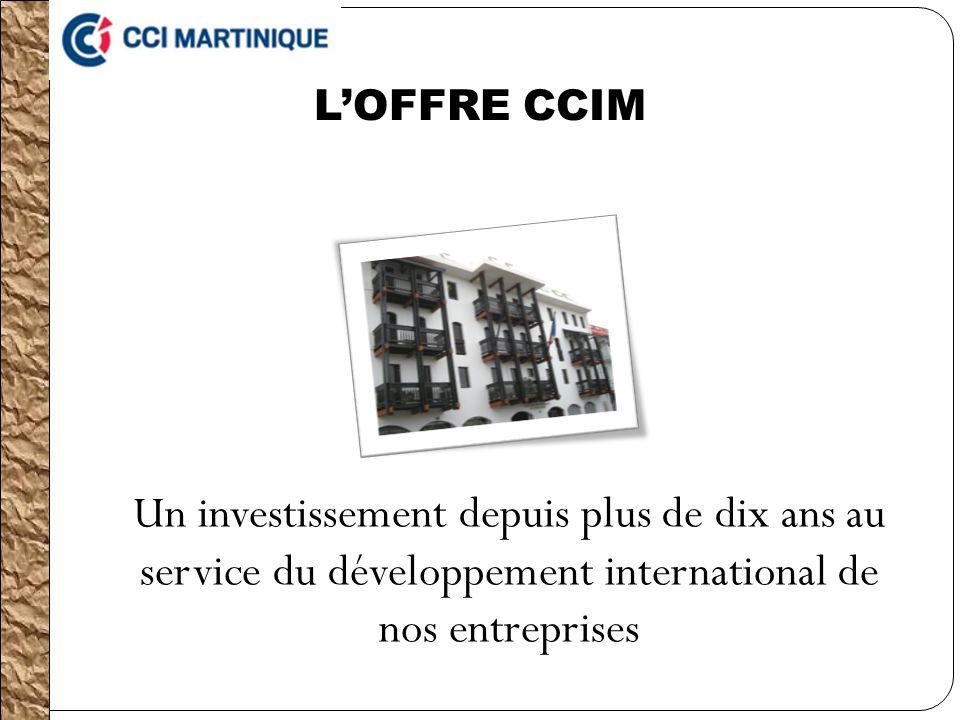 LOFFRE CCIM Un investissement depuis plus de dix ans au service du développement international de nos entreprises