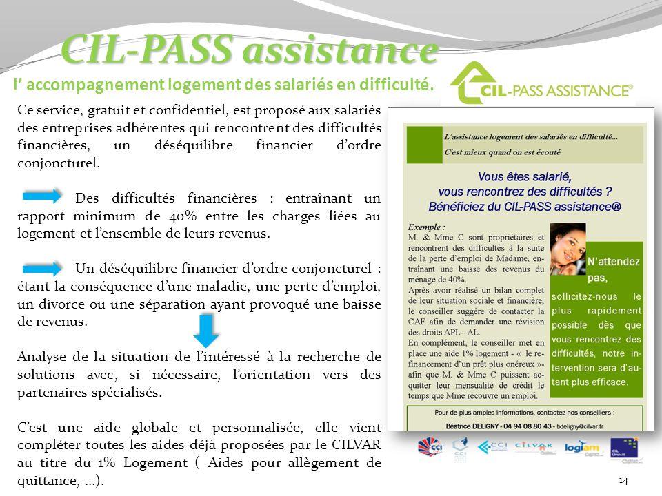 14 CIL-PASS assistance CIL-PASS assistance l accompagnement logement des salariés en difficulté.