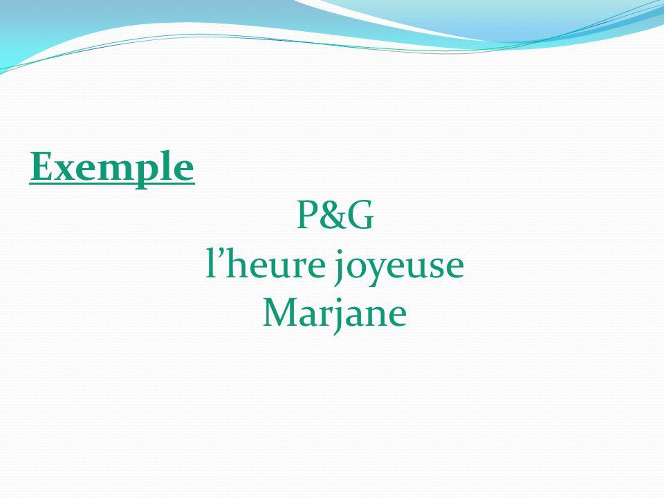Exemple P&G lheure joyeuse Marjane