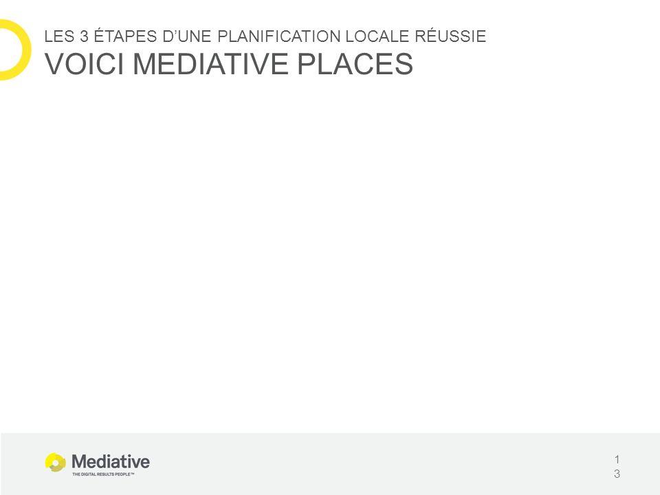 13 LES 3 ÉTAPES DUNE PLANIFICATION LOCALE RÉUSSIE VOICI MEDIATIVE PLACES