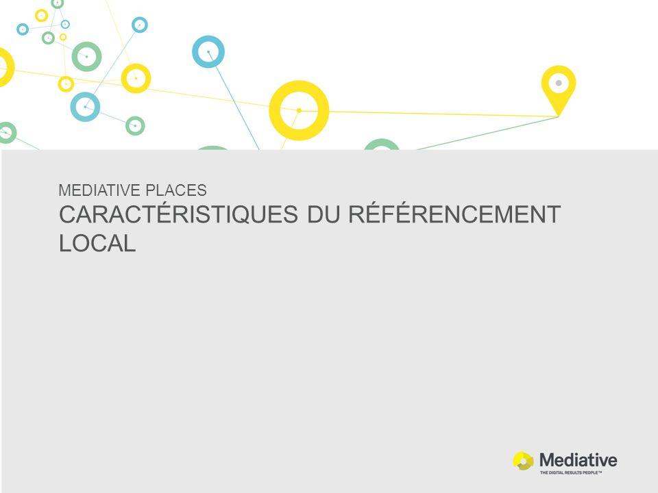 MEDIATIVE PLACES CARACTÉRISTIQUES DU RÉFÉRENCEMENT LOCAL