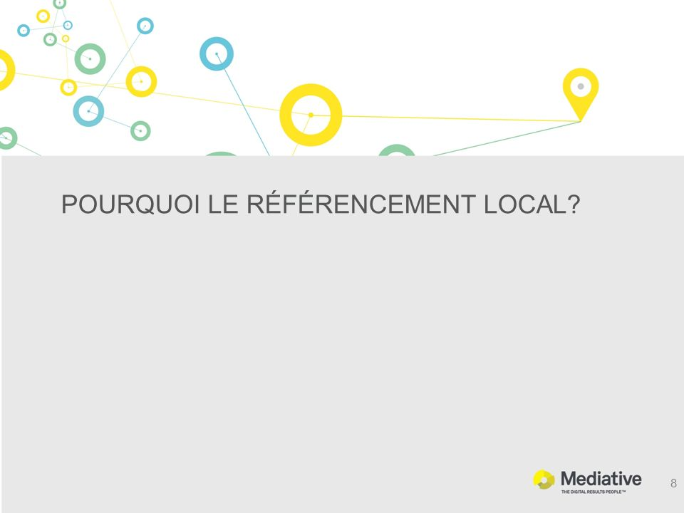 POURQUOI LE RÉFÉRENCEMENT LOCAL? 8
