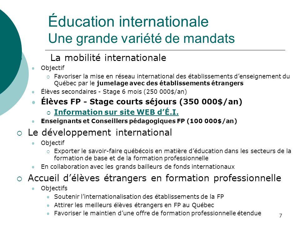 Stages à létranger pour les élèves en formation professionnelle Les conditions gagnantes