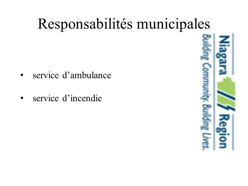 Responsabilités municipales service dambulance service dincendie