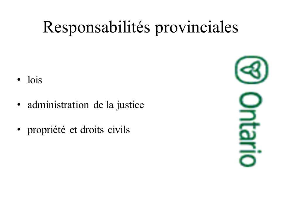 lois administration de la justice propriété et droits civils